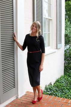 Modest Fashion | Modest Bridesmaid Dresses | Solid Black Layering Dress by Dainty Jewell's Modest Apparel