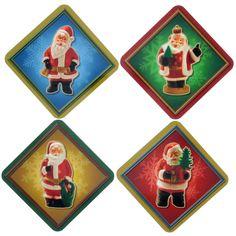 Retro Santas Coaster Set from Retro Planet