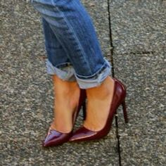 Oxblood Red Heels; if only I din't hate my feet feeling like they are being trapped in a vise