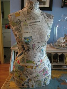 Wow, she figured out how to make her own faux dress form!