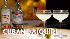 Cuban Daiquiri Cocktail 2 Ways The daiquiri cocktail… This is another of those cocktails that's all over the map in the early years of its existence. Frozen Daiquiri, Daiquiri Cocktail, Cocktail Videos, Cocktail Recipes, Cocktails, Cocktail Book, Cocktail Glass, New Orleans Drinks, Manhattan Glass