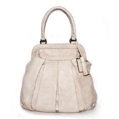 Balloon Zip Brogue pale leather tote bag | TSM The Swedish Model