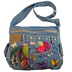 Blue Jean Purses, Metallica, Embroidery Bags, Recycle Jeans, Denim Bag, Crochet Bikini, Sewing Crafts, Diaper Bag, Handbags