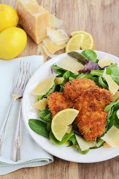 Pan Fried Lemon-Parmesan Crusted Chicken
