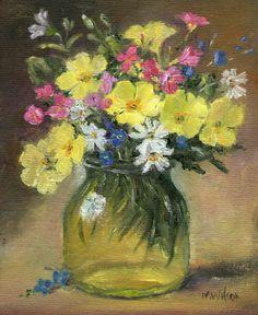 Original Oil Painting/ Marjorie Wilson/ Miniature Still Life- 'Little Green Jar'