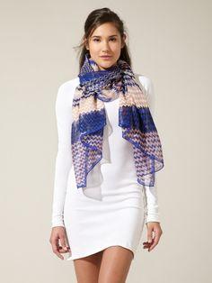 sheer chevron scarf. i love chiffon....