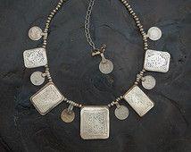 Amulette de Kitab collier, pendentif en boîte à prière, berbère marocaine…