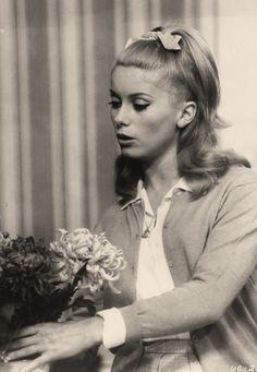 Catherine Deneuve in Les Parapluies de Cherbourg directed by Jacques Demy, 1964