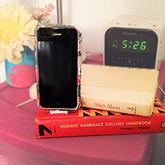 DIY book phone docking station!