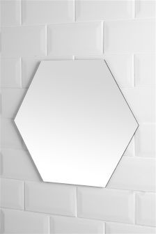Gold Tone Hexham Hexagon Wall Mirror Mirror Wall Hexagon Mirror Overmantle Mirror
