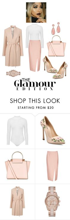 """""""Untitled #2146"""" by stephstyle76 ❤ liked on Polyvore featuring Topshop, Giambattista Valli, C/MEO COLLECTIVE, L.K.Bennett, MICHAEL Michael Kors and Susan Hanover"""