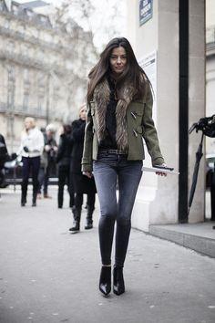 Street style en la alta costura de Paris primavera verano 2013: Bárbara Martelo