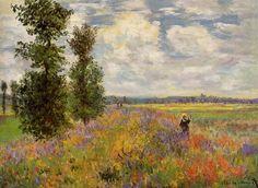 Les Coquelicots, Argenteuil (C Monet - W 380),1875.