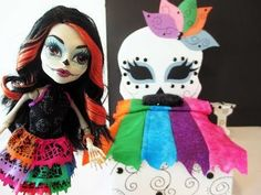 How to make a Skelita Calaveras Doll Bed Tutorial/ Monster High. Again I've already made Skelita's bed and stuff. This is for my followers. Hope you enjoy. Can't wait to show you what I made. It's beyond anything I've seen yet. Wahoo. The blonde in the pic.
