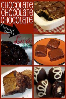 The Best Chocolate recipes - we've eaten most of them!