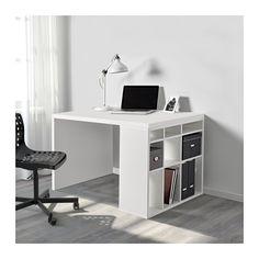 KALLAX / SEMUND Schreibtischkombination, weiß weiß 115x76 cm