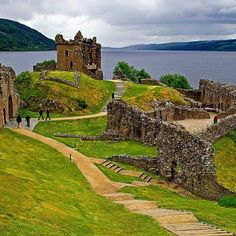 """23 miles long, 1 mile wide, and 271 feet deep, its dark waters are allegedly home to Nessie, the """"Loch Ness Monster,"""" and myths aside, features some of Scotland's most beautiful scenery."""