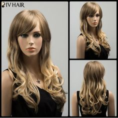 GET $50 NOW | Join RoseGal: Get YOUR $50 NOW!http://www.rosegal.com/human-hair-wigs/ombre-long-oblique-bang-wavy-859168.html?seid=2275071rg859168
