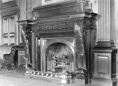 Chimneypiece in the gallery of the long demolished Hamilton Palace, Scotland.