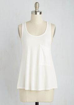 Smart Starting Point Top in White, @ModCloth