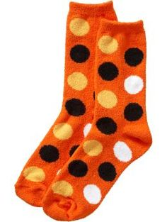 Love the orange with spots! Never had a pair of orange socks before.