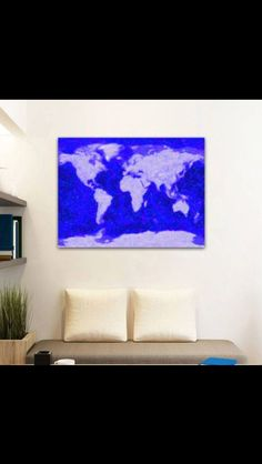 Nottingham colour canvas print from not on the high street art to world map blue print canvas gumiabroncs Choice Image