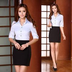 New 2014 Spring Summer Formal Business Suits for Women Suits with Skirt and Blouses Sets Ladies Office Uniform Design
