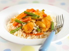 A very good sweet and sour chicken recipe with oodles of child appeal.