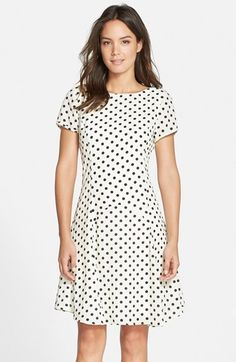 32dd096c431 KUT from the Kloth Polka Dot Fit   Flare Dress - dress for pear bodyshape