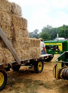 This is what my summers looked like as a kid. Rake it, bale it, load it. Into the barn it goes. Great memories!