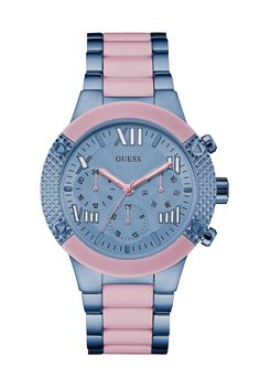 GUESS Women's Blue and Pink Showstopping Sport Watch - Sport Watches - Ideas of Sport Watches - GUESS Women's Blue and Pink Showstopping Sport Watch Cute Watches, Stylish Watches, Sport Watches, Luxury Watches, Guess Watches, Ring Watch, Watch Bands, Bracelet Watch, Watch 2