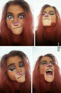 awesome Simba Facepainting