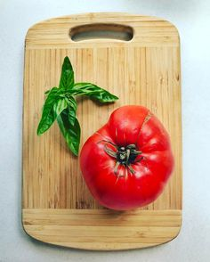 Friday's Lunch: There is NOTHING like home grown tomatoes. This one's about to be diced and enjoyed with my homemade pesto on corn thins. However you are spending your Friday enjoy! #homegrown #homemade #tomatoe #pesto #basil #lunch #oakleigh