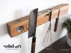 Wohnaccessoires - Upcycling Magnetleiste aus Antik Wasserwaage 70cm - ein Designerstück von solidart-pure-upcycling bei DaWanda