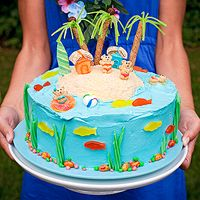 Luau-theme Birthday Cake (via Parents.com)