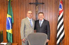 Com o ex-prefeito de Nova Odessa, Manoel Samartim