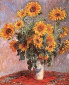 Sunflowers by famous French artist Claude Monet.