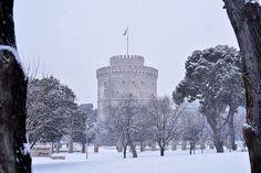 Thessaloniki in White Greek Beauty, Crete Greece, Thessaloniki, Macedonia, Winter Holidays, Natural Beauty, Around The Worlds, Nature, Travel
