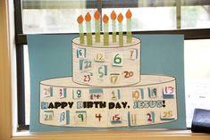 Happy Birthday Jesus Printable Advent Calendar