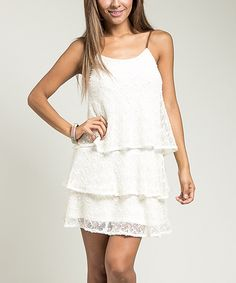 Look at this Cream Tiered Dress on #zulily today!