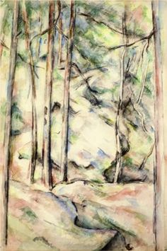 In the Woods (1896, Cubism) - Paul Cezanne