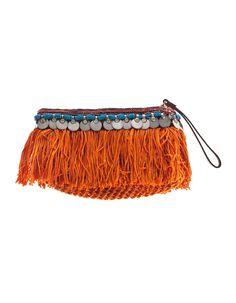 Elliot Mann Indie Pouch Orange Verzierte Clutch-Tasche - Trend Focus: Sunshine Colours