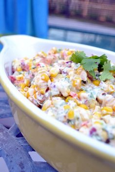 Spicy Creamy Smoky Sweet Corn for the perfect fall #BBQ or #picnic from www.cookthestory.com