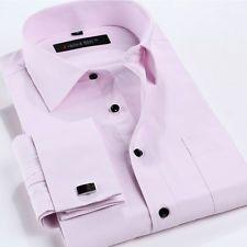 2015 NEW MEN'S Formal Slim Casual Long Sleeve French Cuff Dress Shirts XT281   eBay