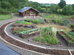 The Bunkhouse, Herefordshire. At the heart of everything is the circular garden grown on permaculture principles where you can harvest your own lunch http://www.organicholidays.co.uk/at/2577.htm