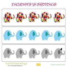 ficha.elmer Activity Games For Kids, Elmer The Elephants, Elephant Game, Book Week, Eyfs, Child Development, Back To School, Homeschool, Classroom