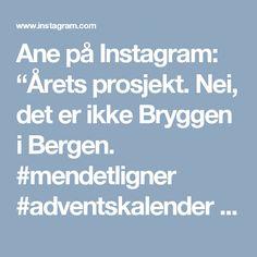 """Ane på Instagram: """"Årets prosjekt. Nei, det er ikke Bryggen i Bergen. #mendetligner #adventskalender #ledlys #upcycling #led #papir #papertrees #24 #advent #calender #diy"""""""