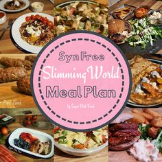 Syn Free Slimming World meal plan and recipes, 7 day Slimming World Meal plan, breakfast lunch and dinner. Tasty low syn and syn free recipes. Slimming World Meal Planner, Slimming World Speed Food, Slimming World Diet Plan, Slimming Eats, Slimming World Recipes, Low Fat Dinner Recipes, Slimmimg World, Speed Foods, 7 Day Meal Plan
