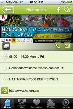 """Hlokomela HAT Tours is a hAPPy activity - a """"what to do"""" listing on the Hoedspruit Info App"""