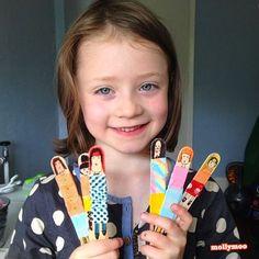 Washi Tape craft stick dolls
